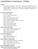 united states constitution outline