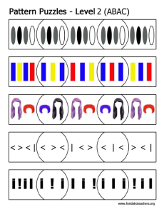 Level 2: ABAC Pattern Puzzles Printables