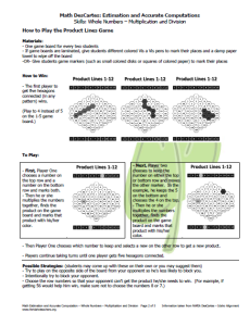 Product Lines Game Directions (pg. 2)
