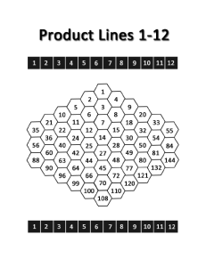 Product Lines Game Board 1-12 (pg. 3)