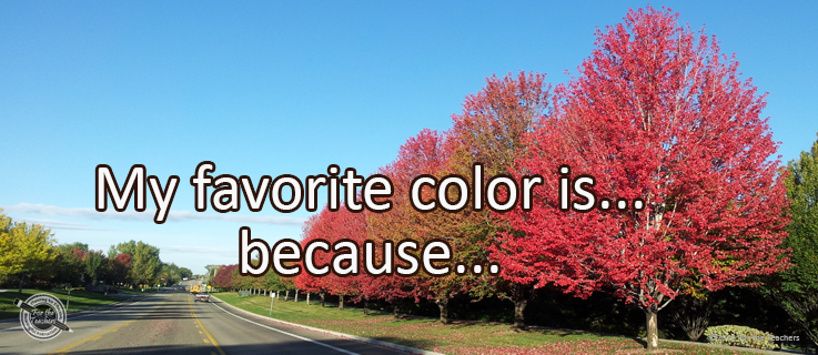Writing Prompt for September 21: Favorite Color