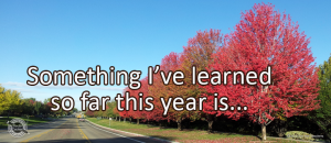 Writing Prompt for September 17: So Far This Year