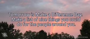 Writing Prompt for October 23: Make a Difference