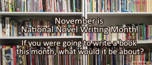 Writing Prompt: NaNoWriMo