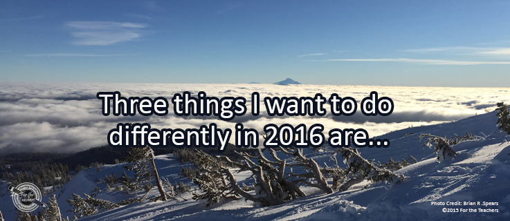 Writing Prompt for January 4: Different in 2016