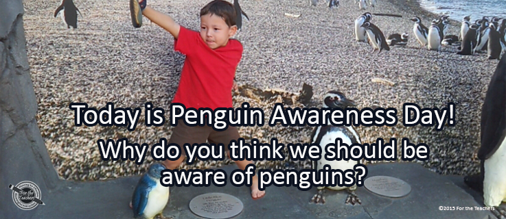 Writing Prompt for January 20: Penguin Awareness Day