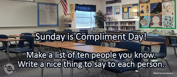 Writing Prompt for January 22: Compliment Day!