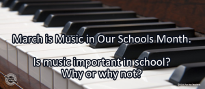 Writing Prompt for March 15: Music in School