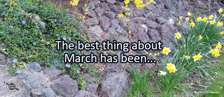 Writing Prompt for March 29: Best Thing in March