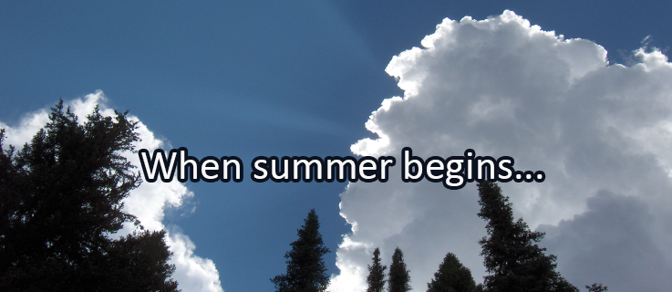 Writing Prompt for June 20: Summer Beginning