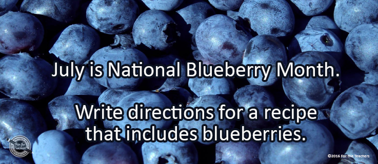 Writing Prompt for July 18: Blueberries
