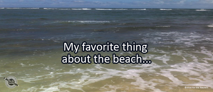 Writing Prompt for July 22: Beach