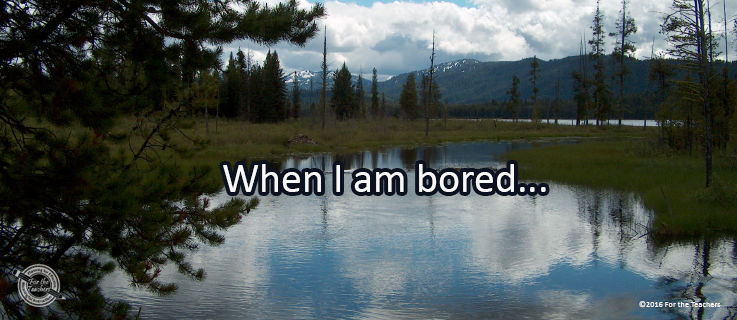 Writing Prompt for July 24: Bored