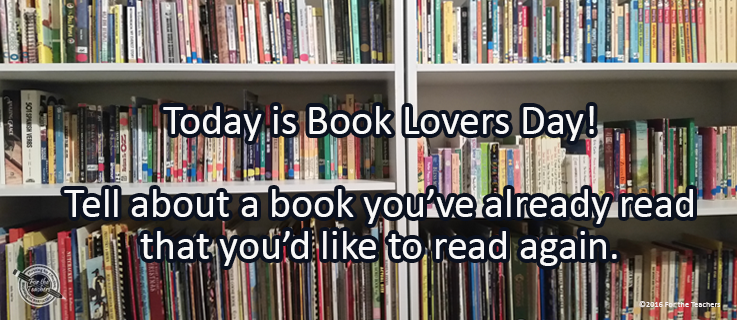 Writing Prompt for August 10: Loving Books