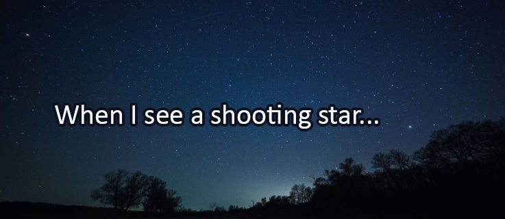 Writing Prompt for August 12: Shooting Stars