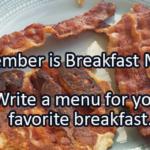 Writing Prompt for September 19: Breakfast