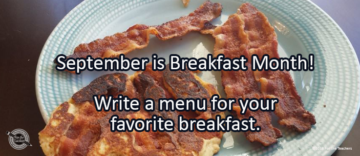 Writing Prompt for September 19: Breakfast