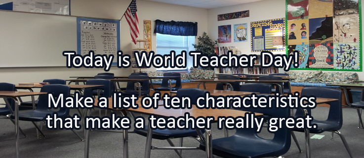 Writing Prompt for October 5: World Teacher Day