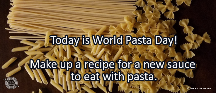 Writing Prompt for October 25: Pasta