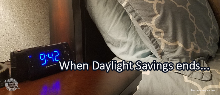 Writing Prompt for Monday, November 7: Daylight Savings