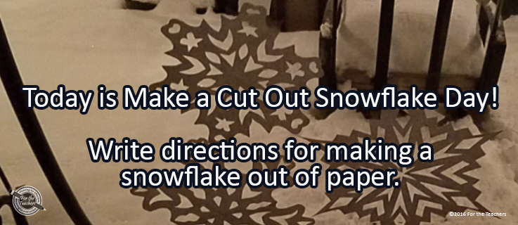 Writing Prompt for December 27: Snowflake