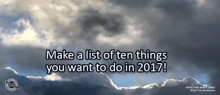 Writing Prompt for January 3: 2017!