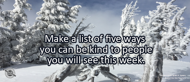 Writing Prompt for February 26: Being Kind