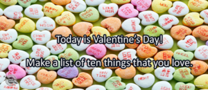 Writing Prompt for February 14: Valentines