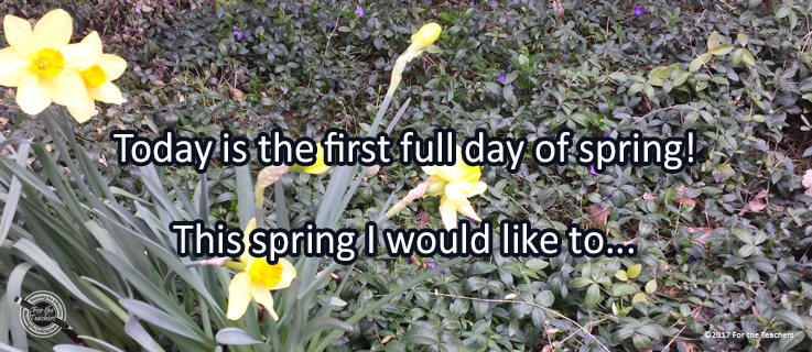 Writing Prompt for March 21: Spring!