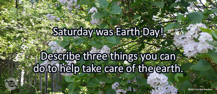 Writing Prompt for April 24: Earth Day