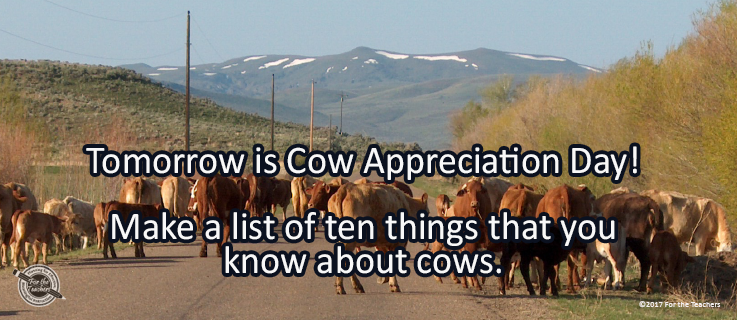 Writing Prompt for July 14: Cows!