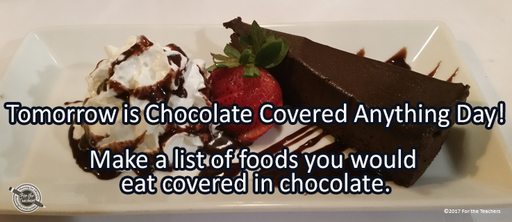 Writing Prompt for December 15: Chocolate Covered