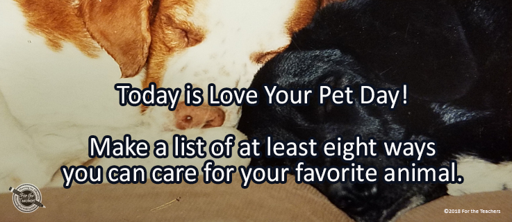 Writing Prompt for February 20: Love Your Pets