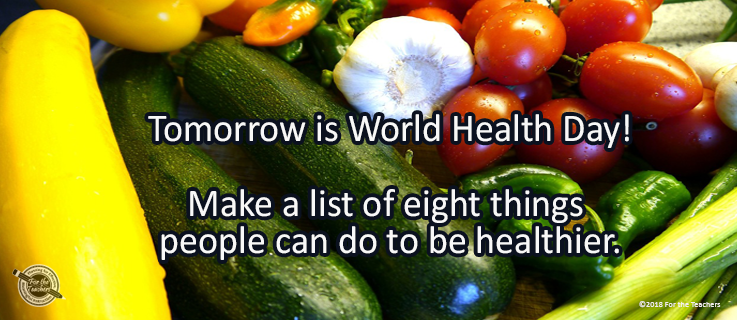 Writing Prompt for April 6: Health