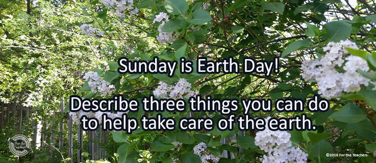 Writing Prompt for April 20: Earth Day