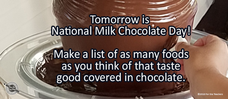 Writing Prompt for July 27: Milk Chocolate